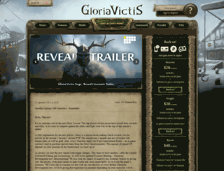 forum.gloriavictisgame.com screenshot