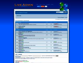forum.liveadmin.net screenshot