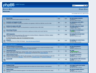 forum.lxde.org screenshot