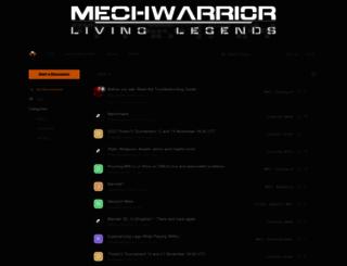 forum.mechlivinglegends.net screenshot