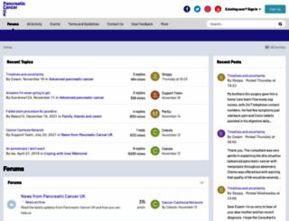 forum.pancreaticcancer.org.uk screenshot