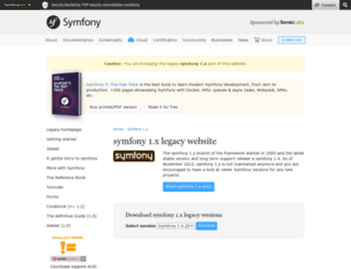 forum.symfony-project.org screenshot