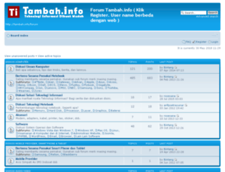 forum.tambah.info screenshot