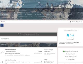 forumas.sarg.lt screenshot