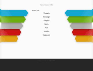 forumplus.info screenshot