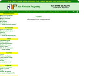 forums.1st-for-french-property.co.uk screenshot