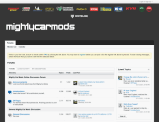 forums.mightycarmods.com screenshot