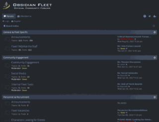 forums.obsidianfleet.net screenshot