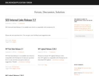 forums.onlinewebapplication.com screenshot