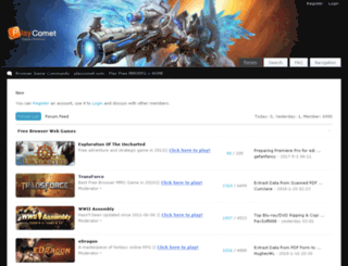forums.playcomet.com screenshot