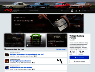 forums.vintage-mustang.com screenshot