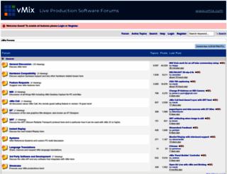 forums.vmix.com.au screenshot