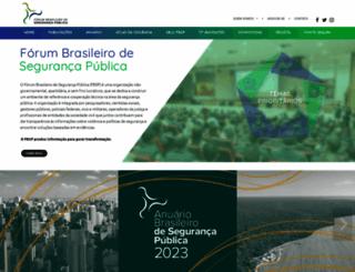 forumseguranca.org.br screenshot