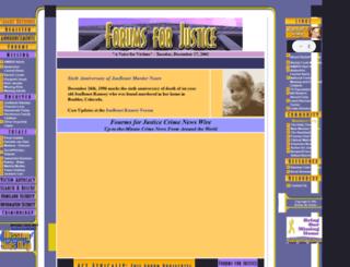 forumsforjustice.org screenshot