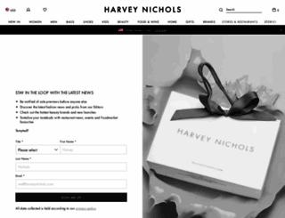 foryou.harveynichols.com screenshot