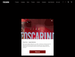 foscarini.it screenshot