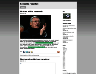 fotbollsresultat.bloggo.nu screenshot