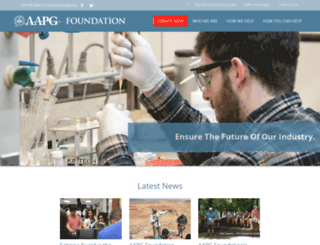 foundation.aapg.org screenshot