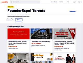 founderprojectto.eventbrite.ca screenshot