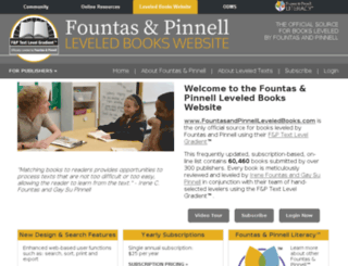 fountasandpinnellleveledbooks.com screenshot