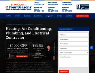 fourseasonsheatingcooling.com screenshot