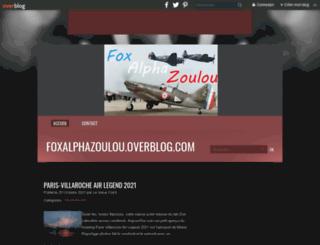 foxalphazoulou.overblog.com screenshot