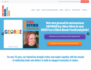 foxcitiesbookfestival.org screenshot