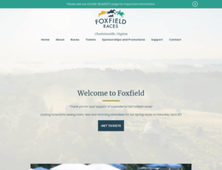 foxfieldraces.com screenshot