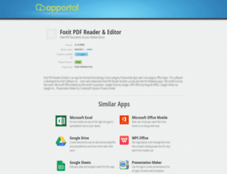 foxit-pdf-reader.apportal.co screenshot