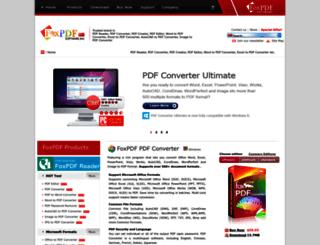 foxpdf.com screenshot