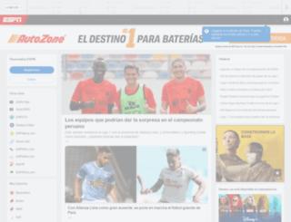 foxsports.com.pe screenshot
