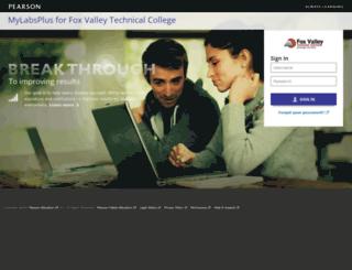 foxvalley.mylabsplus.com screenshot