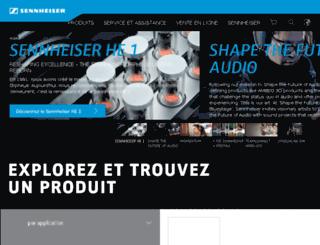 fr-ca.sennheiser.com screenshot