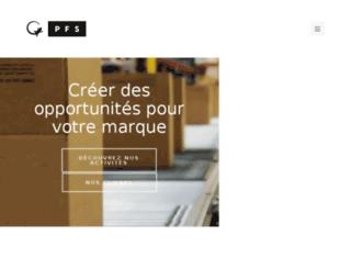 fr.pfsweb.com screenshot