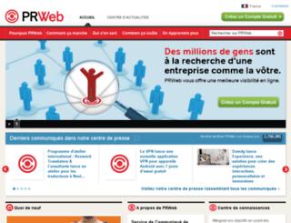 fr.prweb.com screenshot
