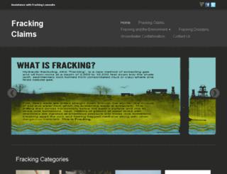 frackingclaims.org screenshot