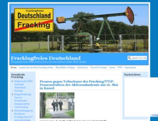 frackingfreies-deutschland.de screenshot