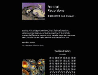 fractal-recursions.com screenshot