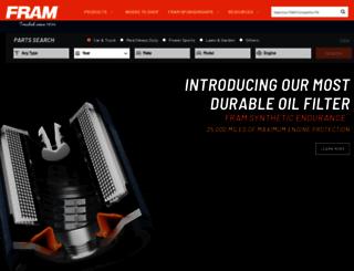 fram.com screenshot