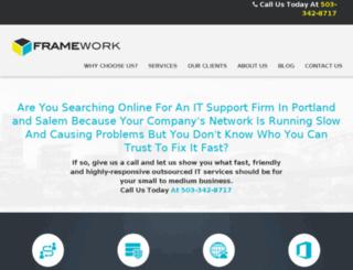 frameworkcloudservices.com screenshot