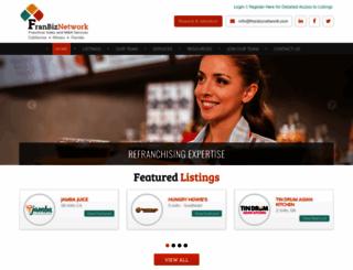 franbiznetwork.com screenshot