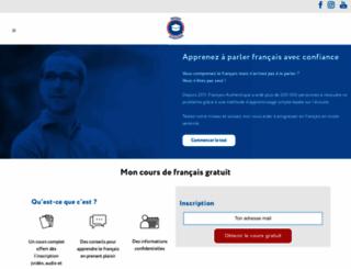 francaisauthentique.com screenshot