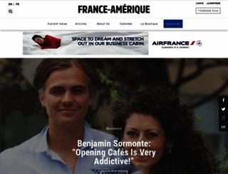 france-amerique.com screenshot