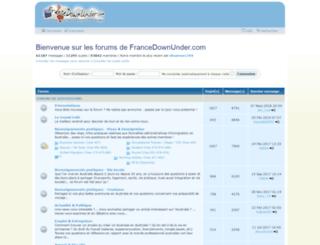 francedownunder.com screenshot