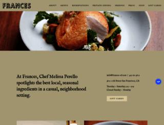 frances-sf.com screenshot
