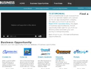 franchise.business-opportunities.biz screenshot