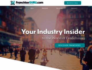 franchiseguru.com screenshot