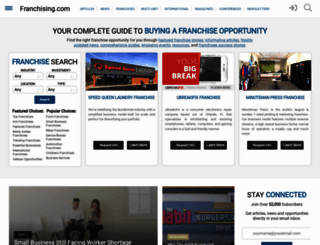 franchising.com screenshot