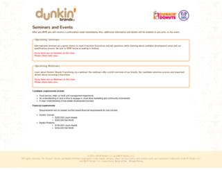 franchisingevents.dunkinbrands.com screenshot