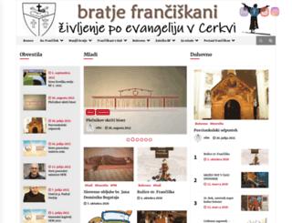 franciskani.si screenshot